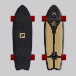 HY -SURFSKATE CLASSIC Black + Wood