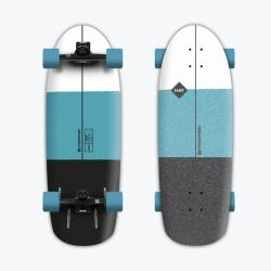 "Hydroponic HAV 02  TURQUOISE Black 30""x10"" Surf Skate"